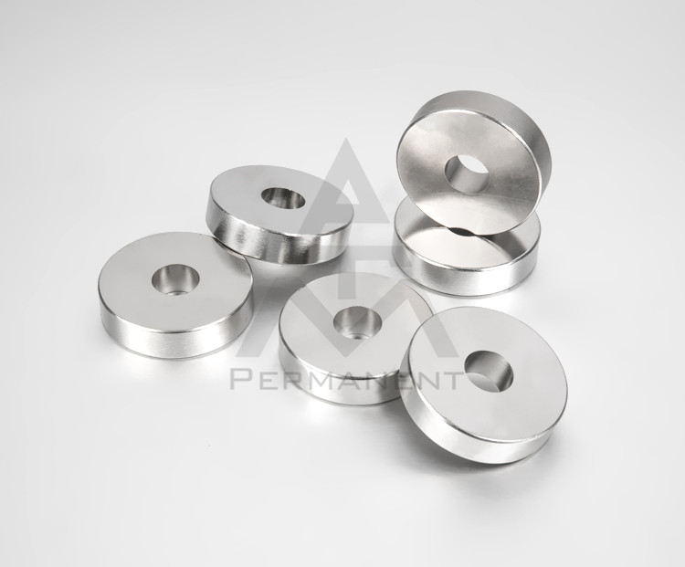 Ring neodymium magnet D50XD12X9mm with nickel coating
