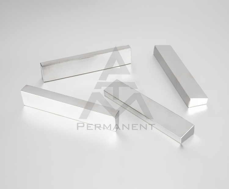 Tegular NdFeB magnet with permanent magnetic material nickel coating