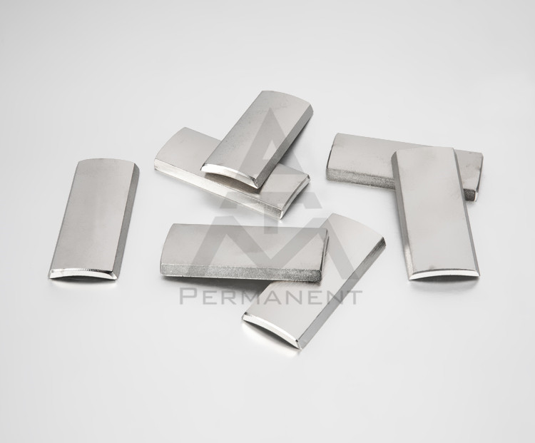 N48H motor magnets with NdFeB magnetic material R57xR79x50.8mm